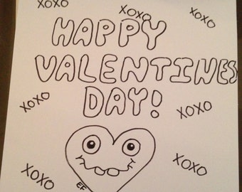 Hand-drawn Valentines Day Card