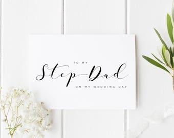 To My StepDad On My Wedding Day, Step Dad Wedding Day Card, Card For Step-Dad Wedding Day, To My Step Parents On My Wedding Day, For Stepdad