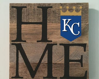 Kansas City Royals HOME Sign  // Custom // Gifts for Her // Gifts for Him // Wedding // Pallet // Royals // MLB