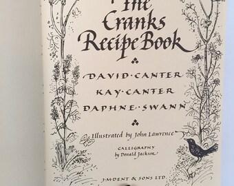 Vintage The CRANKS RECIPE BOOK, 1982 Vegetarian Cookbook, Hardcover Recipe Book