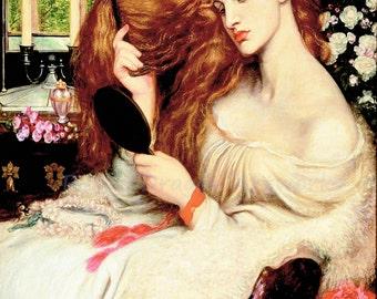 "Dante Rossetti ""Lady Lilith"" 1868 Reproduction Digital Print Powerful and Evil Temptress Seduction of Men Judaic Myth"