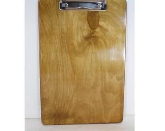 Coach's Clipboard, Tan, Wooden Clipboard