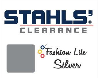 "12"" x 19"" - 15 Craft Sheets - Stahls' Fashion-LITE - Smooth - Iron-on Heat Transfer Vinyl - HTV – Silver"