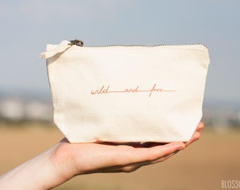 small bag / cosmetic bag / case wild and free