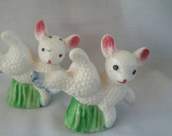 Vintage Lamb Salt and Pepper Shakers, Japan, Easter Perfect!