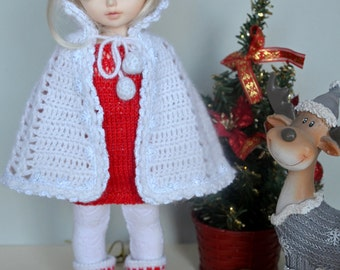 Knitted cape for Yosd, Littlefee, 1/6 Bjd dolls.