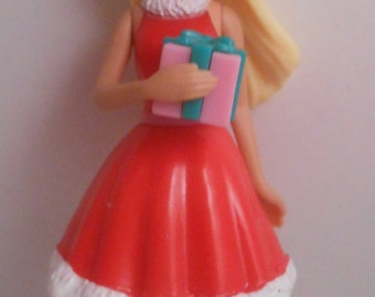 CUSTOM Ornament Made From Happy Holidays Barbie Mrs Claus NEW Christmas Present