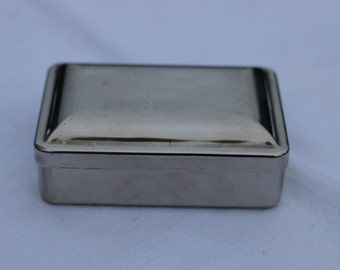 French Vintage silver plated trinket box.  French Vintage Shabby Chic.