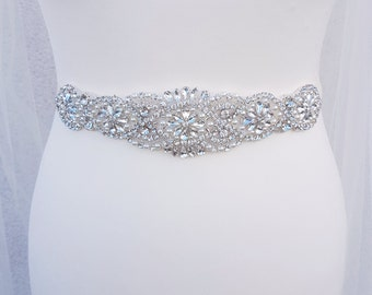 Bridal sash, pearl sash, bridal sash belt, sash, Wedding dress belts, pearl Bridal belt, Rhinestone belt, pearl beaded, bridal belt, NADINE
