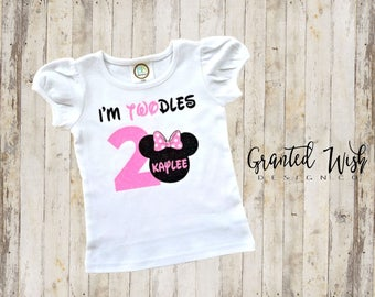 Minnie mouse birthday shirt, oh twodles birthday shirt, minnie mouse tshirt, Minnie mouse birthday t-shirts, oh twodles
