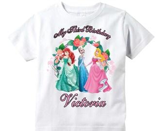 Disney Princesses Birthday Shirt Youth Toddler Infant Adult  p316