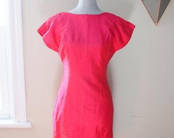 80s silk wiggle dress