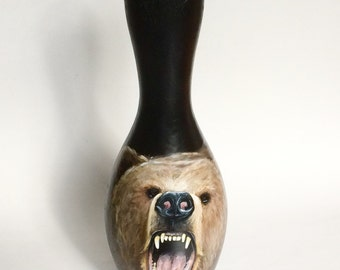 Grizzly Bear Bowling pin, bowling gift