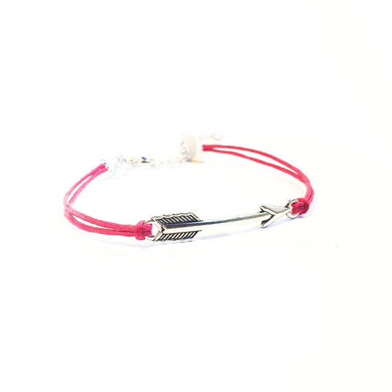 arrow bracelet friendship bracelet best friend gift silver