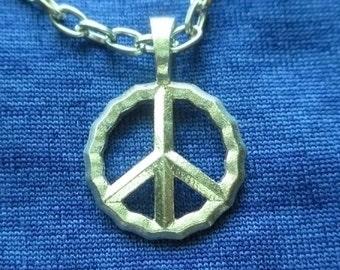 Precious Metal Peace Charm Pendant