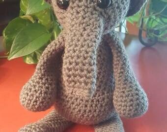 Grey Elephant Amigurumi