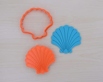 Seashell  1 -  Cookie Cutter and Stamp Set
