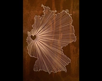 Any State or Country String Art   Made to Order, Custom String Art