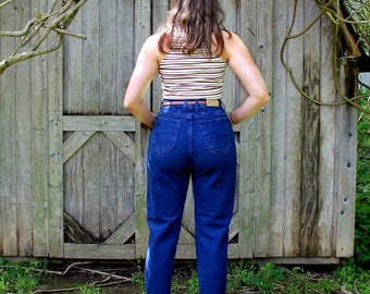 Size 8 Mom Jeans High Waisted Denim Blue Jeans LEE 30 Waist