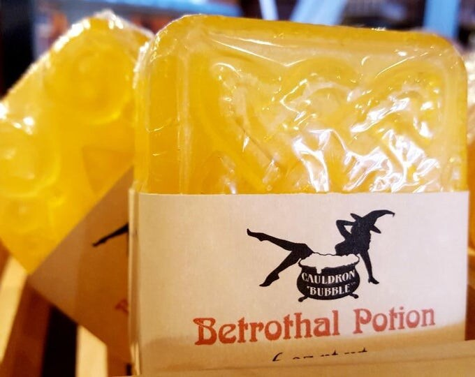 Betrothal Potion - Handcrafted Aloe Enriched Vegan Glycerin Soap - Love Potion Magickal Perfumerie