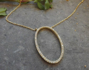 Gold Necklace,Chain Necklace,Silver Necklace,Zirconia Pendant,Beaded Necklace,Bridal Gift,Wedding Jewelry,Birthday Gift