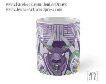 Evil Dead 2 Mug - 'Dead By Dawn' - Halloween, Bruce Campbell, B-Movie, Horror, Tattoo