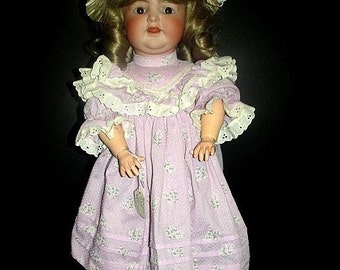 "Antique 23"" Krammer and Reinhart Simon & Halbig Bisque Head, Composition Body Toddler Doll"