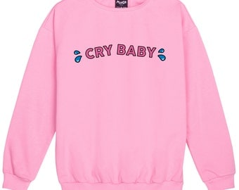 cry baby SWEATER JUMPER womens ladies fun tumblr hipster swag fashion grunge retro top cute vintage harajuku sassy kawaii cute pink harajuku