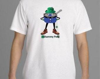Shammy PotHead T-Shirt Spoof - Design on front and back