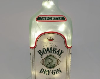 Bombay Gin Bottle Lamp / Dry Gin / Gifts for Men / Gift Ideas