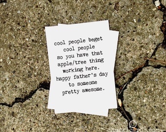 Father's Day Card, Like a Father, Father's Day for Friend, Funny Father's Day, Not My Dad Card, Chucklcards, Typewriter Font, Apple Tree
