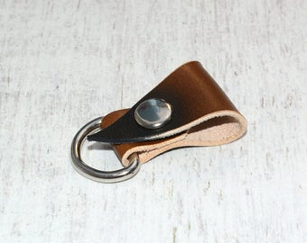 Brown Leather Cord Organizer // Headphone Case - Earbud Holder - Cable Holder - Leather Cord Keeper - Leather Earphone Holder