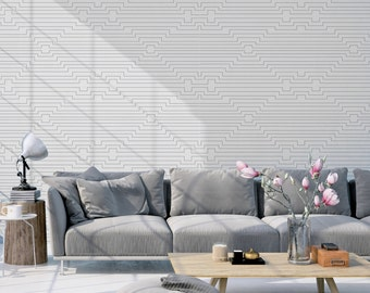 Soft Geometric Wallpaper, Black & White Self Adhesive Wallpaper, Removable Wallpaper, Home and Office Wall Decor