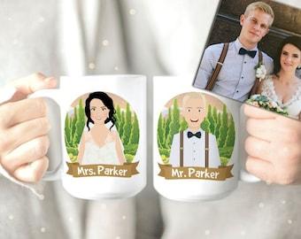 Couples Mugs - Couples Mug Set - Mugs for Couples - Married Couples Mugs - Couples Coffee Mugs - His and Hers Mugs Set - Bride Groom Mugs