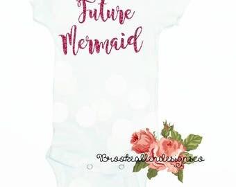 Future Mermaid Onesie-Mermaid Onesie-Mermaid Beach Onesie-Beach outfit-Baby Beach Onesie-Cute Onesie-Funny Onesie-Funny Mermaid Onesie-