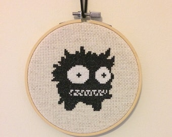 Castle Crashers Troll Animal Orb Video Game Cross Stitch Hoop