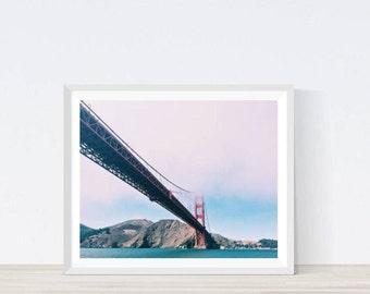 Golden gate bridge, San Francisco art, San Francisco, Golden gate bridge art, san francisco wall art, san francisco, city prints