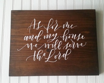 Joshua 24:15 Wooden Scripture Sign