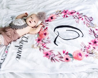 Custom Baby Blanket - Baby Blanket With Name - New Baby Gift - Baby Shower Gift Idea - New Parent Gift - Baby Swaddle Blanket
