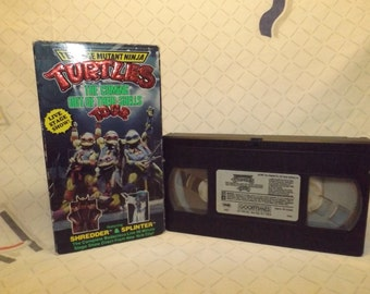 Rare VHS Ninja Turtles Live Show TMNT VHS Tape vcr Teenage Mutant Ninja Turtles Live Show Recording Souveneir