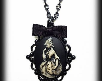 Victorian Lady Necklace, Gothic Victorian Cameo Pendant, Alternative Jewelry, Gothic Gift, Gothic Jewelry, Handmade Necklace