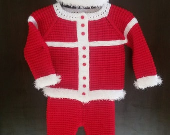 Christmas set, baby suit, baby gift, children knits, warm, sweater, hat, pants, booties, boots