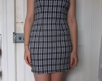 Vintage Figure-Hugging Short Dress