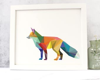 Geometric Fox Fine Art Print