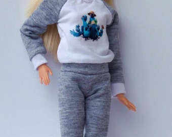 Barbie clothes - pajamas,sportswear, Fashion Royalty doll clothes