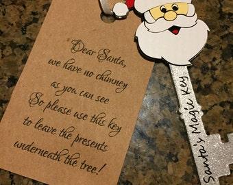 Santa's Magic Key Acrylic Ornament