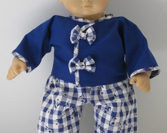 Bitty Baby / Bitty Twin Blue Jacket and Blue Gingham Pants