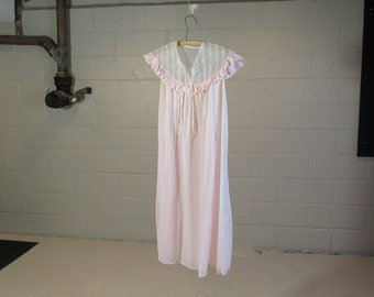 pink baby doll dress / night gown : size small
