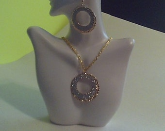 Silver and gold Necklace Set