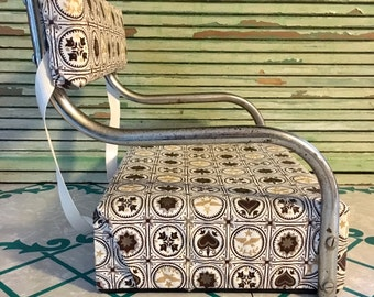 Vintage 1960s Highchair Booster Seat Childs Chair Chrome Vinyl